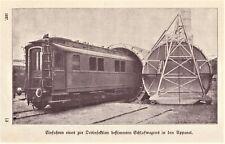 Kampf gegen Seuchen, Desinfektion von Eisenbahnwaggons anno 1927 - Hist Bericht