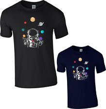 Space Juggler T-Shirt Astronaut Moon Solar System Planets Space Gift Tee Top