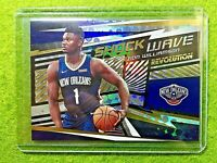ZION WILLIAMSON PRIZM ROOKIE REFRACTOR PELICANS RC 2019-20 Revolution SHOCK WAVE