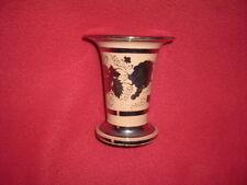 Staffordshire Luster Silver Resist Spill Vase Large Size Ca 1820 Floral