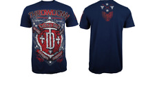 NEW Men's Throwdown by Affliction Cartouche T-Shirt Color: Blue Size: X-Large
