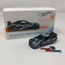 Nissan Skyline GT-R BNR34 HKS * 2021 Hot Wheels id Car Case C * NEW!!