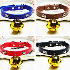 Dog Cat Bone Collar Adjustable Cute Traction Leash Pet Supplies with Bell Fancy
