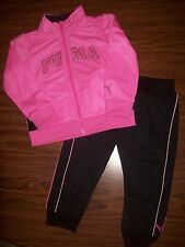 Toddler Girls PUMA Jacket & Pants Outfit Size 2T New NWT MSRP $52 - PINK & BLACK