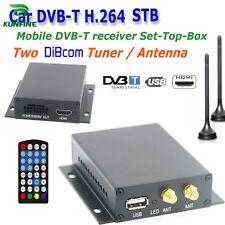 12~24V Car DVB-T TV box Diversity 2 Antenna MPEG2 MPEG4 H.264 STB