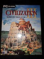 Sid Meier's Civilization III (3) Big Box - PC CD Game