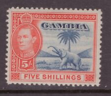 Gambia 1938 5 shillings Elephant SG 160 Mint Hinged