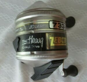 Vintage Zebco 733 The Hawg Direct Drive casting reel made in USA works