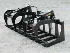 66 Dual Cylinder Root Grapple Bucket Attachment Fits Skid Steer Quick Attach