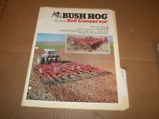 PY79) Bush Hog Sales Brochure 4 Pages - SC-9000 Soil Conservur