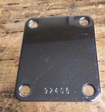 Rare fender stratocaster telecaster neck plate w/ bottom stamp #92406 circa 1962