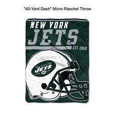 "NFL New York Jets 40-Yard Dash Micro Raschel Throw Blanket 40"" x 60"""