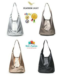 New Women's Ladies Stylish Light Weight Shoulder Bag/Shinning Large Shopper Bag