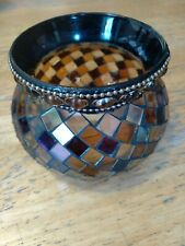 Partylite Mosaic Calypso Candle Tealight Votive Holders Stained Glass.