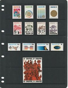 SINGAPORE 1973 FOUR SETS MNH SUPERB