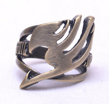 Anime Fairy Tail Guild LOGO Ring Metal Brozen Hollow Cosplay Jewelry New