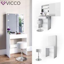 Vicco Table de maquillage Melle commode de coiffeuse miroir blanc + tabouret