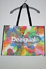 DESIGUAL SHOPPING REUSABLE BAG - LARGE - MULTICOLOR - NWOT