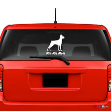 Miniature Pinscher Mom Windshield Sticker Vinyl Auto Window Min Pin Profile