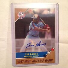 TIM RAINES #27-A EXPOS HOF Auto 2017 TOPPS ON-DEMAND All Star HOMAGE TO 1987