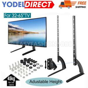 "UNIVERSAL TABLE TOP TV STAND RISER BASE PEDESTAL MOUNT BRACKET 14""- 65"" LCD LED"