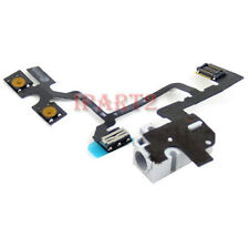 Headphone Audio Jack Power Volume Switch Flex Cable for Apple iPhone 4 (White)