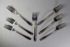 International Silver Daffodil Silverplate Set of 7 Salad Forks