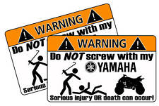 Funny Yamaha Motorcycle ATV Race Warning Quad Sticker