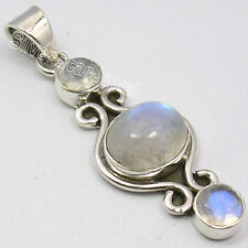 925 PURE Silver RAINBOW MOONSTONE LOVELY Pendant 4.4CM