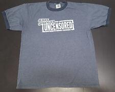 Vintage Jerry Springer Uncensored graphic ringer tshirt Men's size L
