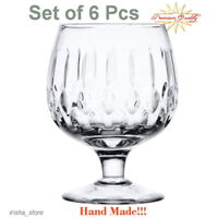 Russian Cut Crystal Snifter Glasses Wine,Brandy,Cognac-Choice Set of 6 Hand made