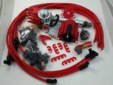 SB Chevy SBC Small Cap H.E.I HEI Distributor Kit W/ Plug Wires & E-Core Coil