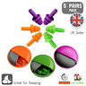 5 Pairs Reusable Noise Cancelling Ear Plugs Earplugs for Sleep Swimming Work