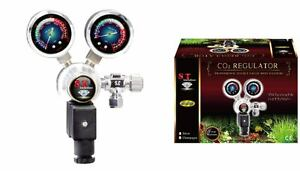 ST International FISH AQUARIUM CO2 REGULATOR Professional Double-Gauge Solenoid