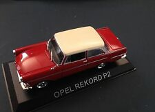OPEL REKORD P2 VOITURE MINIATURE 1/43 IXO IST LEGENDARY CAR AUTO B36