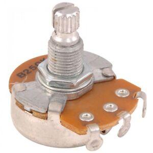 Guitar Tech Volume Pot 250k - Spline grip - 18mm Shaft GT933
