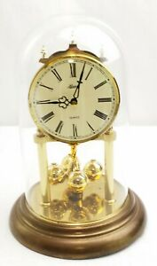 Vintage Hermle Anniversary Clock Rotating Pendulum Dome West Germany Parts Only