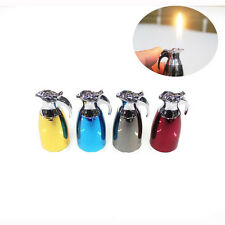Kettle Shaped Flame Refillable Butane Gas Cigarette Cigar Lighter Smoke Gift New