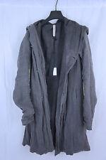 POEME BOHEMIEN Reversible Linen Hooded Coat Sz 48 ITALY Harnden Viridi Owens