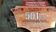 Levis 501 CT  tapered jeans new size w34L30 please read