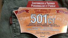 LEVIS 501 CT Fuselé Jeans Neuf Taille w34L30 veuillez lire