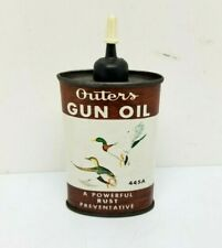 OUTERS GUN OIL #445A 3oz OVAL Tin Can Hunting Fishing Duck Can Empty
