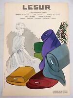 L'officiel De La Couleur Des Industries De La Mode No. 16 Hiver 1952 Lesur
