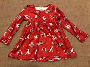 Alabama Crimson Tide Girls Dress Top Ruffles Red Logo NCAA Christmas Gift!!