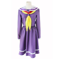 No Game No Life Shiro Dress Uniform Halloween Party Anime Cosplay Costume