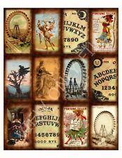 12 Fortune Teller Quija Board Vintage Hang Tags (46)