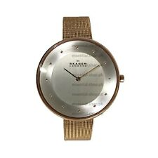 Skagen Gitte Rose Gold-Tone Ladies Stainless Steel Mesh Watch SKW2142 COD/CC