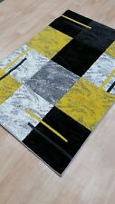 Modern Medium Large Grey Yellow Tartan Rugs Harlequin Carpet Mat Runner  Online