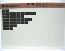 Suzuki JR50 1978 - 1981 Parts Microfiche s109