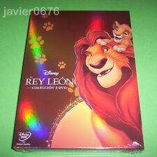 EL REY LEON TRILOGIA DISNEY COLECCION 3 DISCOS DVD PACK NUEVO Y PRECINTADO